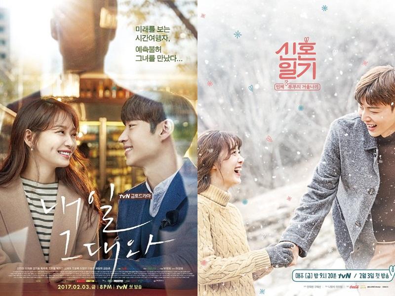 """La alineación de los viernes por la noche de tvN obtiene el máximo éxito con """"Tomorrow With You"""" y """"The Lovebirds: Year 1"""""""