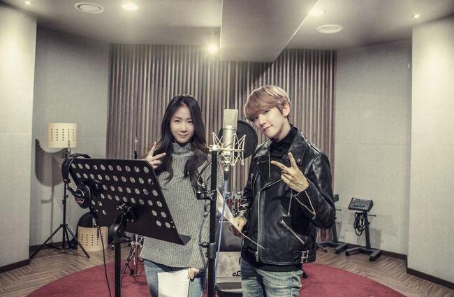 """Baekhyun de EXO y Soyou de SISTAR muestran sus increíbles voces en el dueto """"Rain"""""""