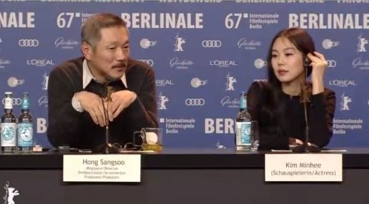La actriz Kim Min Hee y el director Hong Sang Soo abordan su relación en el Festival de Cine de Berlín