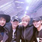"""El elenco de """"Hwarang"""" y el rapero Sleepy comparten fotos tras bambalinas del concierto de BTS"""