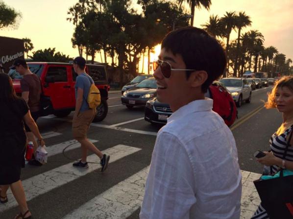 Kwanghee disfruta de sus últimas vacaciones en Estados Unidos antes de comenzar el servicio militar