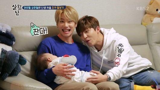 Soohyun y Jun de U-KISS se transforman en cuidadosos niñeros del hijo de Eli