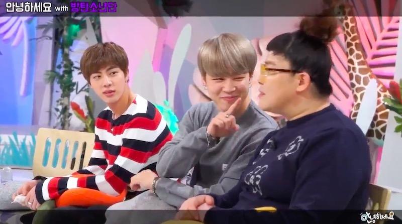 """Jin y Jimin de BTS encantan a los conductores de """"Hello Counselor"""" con sus bromas y sus gracias en vista previa"""