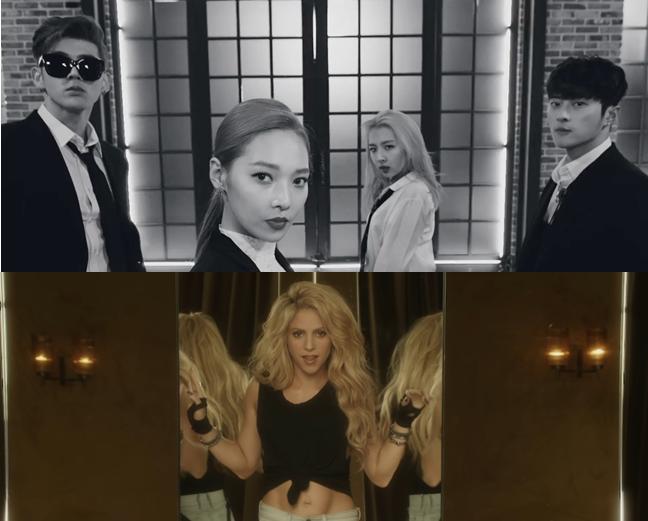 """El grupo mixto K.A.R.D reacciona al video musical de Shakira ft. Maluma """"Chantaje"""""""