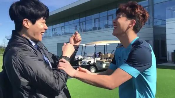 Ryu Jun Yeol y el jugador de fútbol Son Heung Min tienen un adorable bromance