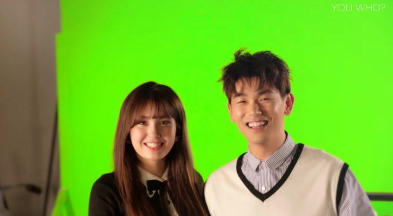"""Eric Nam y Jeon Somi se divierten en el detrás de cámaras del video musical """"You, Who?"""""""