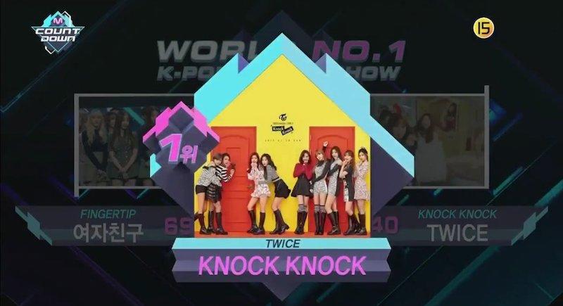 """TWICE obtiene séptima victoria con """"Knock Knock"""" en """"M!Countdown"""" – Presentaciones de GOT7, GFRIEND, BTOB y más"""