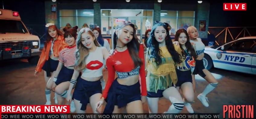 """PRISTIN muestra sus movimientos de baile en el segundo MV teaser de """"Wee Woo"""""""