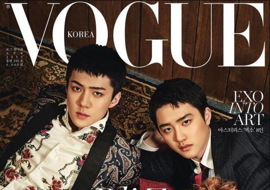 EXO son los nuevos modelos de portada para Vogue Korea