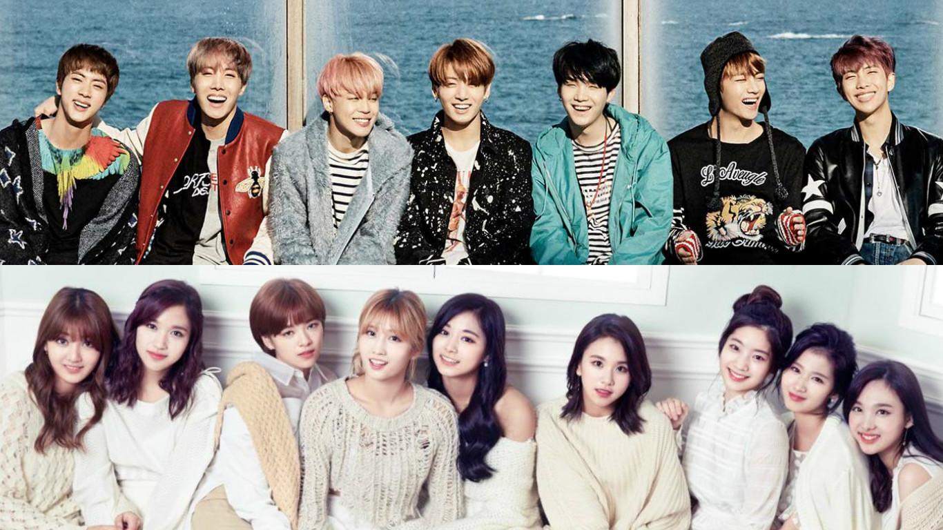 BTS y TWICE son elegidos como los mejores grupos ídolos masculino y femenino del momento por las agencias de entretenimiento
