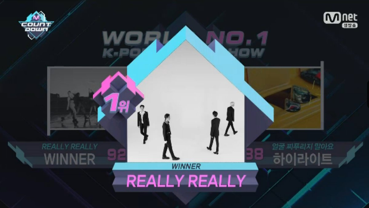 "WINNER consigue el nº1 con ""Really Really"" en ""M!Countdown"". Actuaciones de Girl's Day, Jung Eun Ji y Unit Black, entre otros"