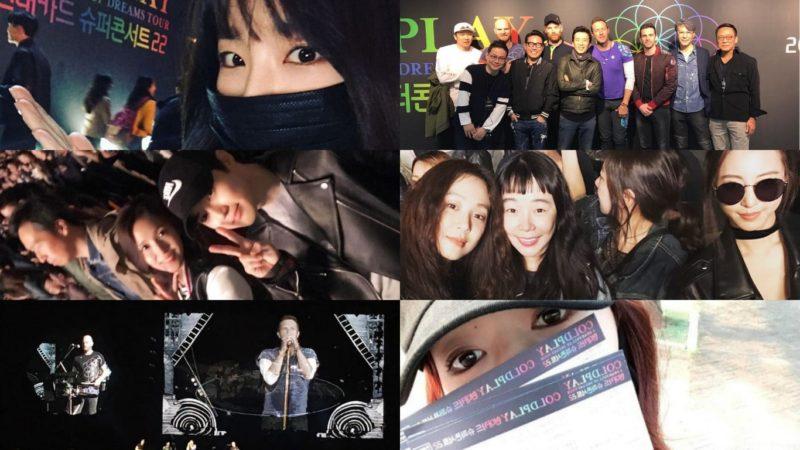 Las celebridades coreanas asisten al concierto de Coldplay, el cual se toma un momento para rendir homenaje a las víctimas del Ferry de Sewol