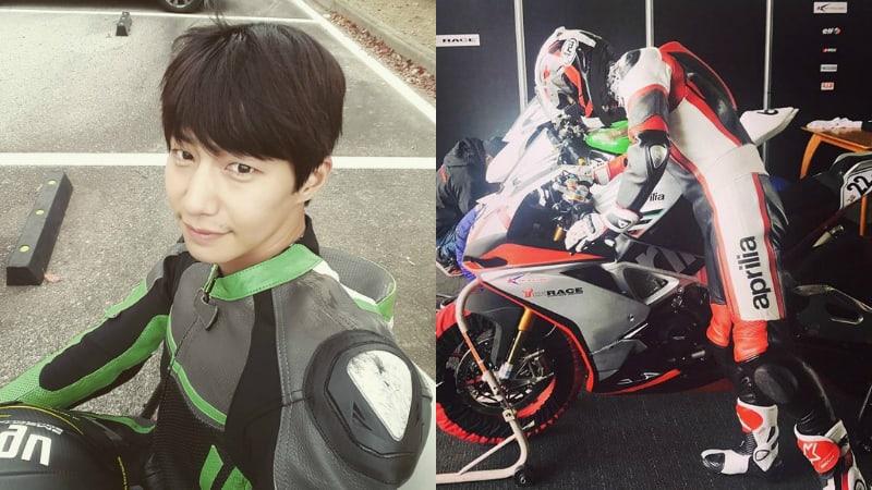 Song Jae Rim participa en un campeonato oficial de motos