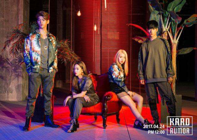 """K.A.R.D demuestra su popularidad global al encabezar los charts de iTunes de K-Pop en 13 países con """"Rumor"""""""