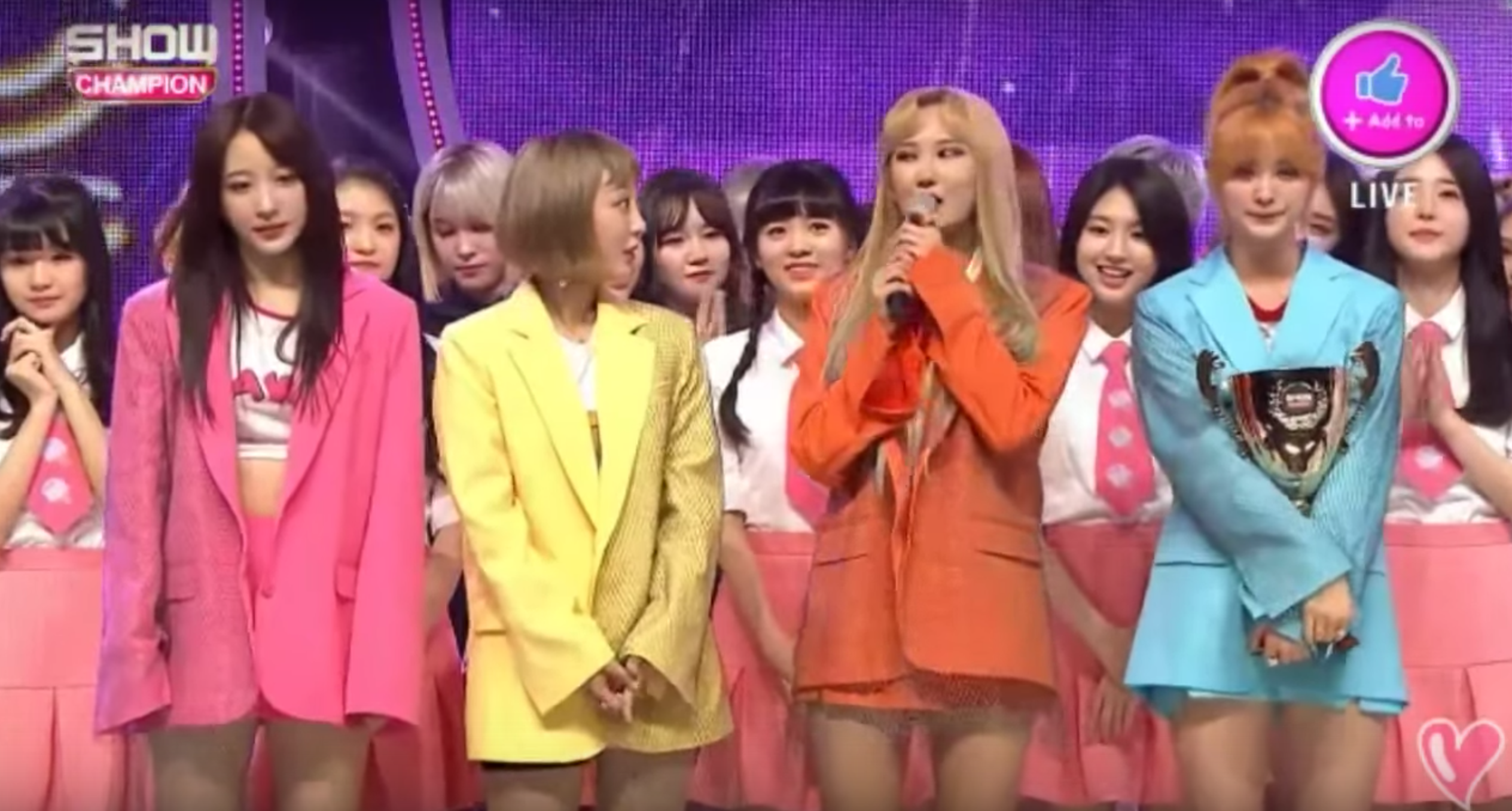 "EXID obtiene segunda victoria con ""Night Rather Than Day"" en ""Show Champion"" – Presentaciones de Gong Minzy, MONSTA X, LABOUM y más"