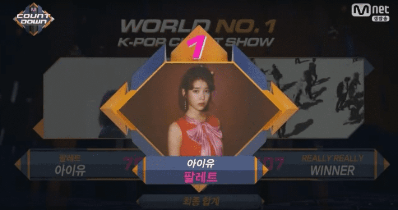 """IU toma el primer lugar con """"Palette"""" en """"M!Countdown"""" – Presentaciones de """"Produce 101 Season 2"""", DIA, Hyukoh y más"""