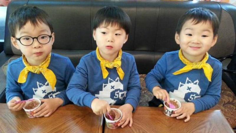Los trillizos Song sorprenden a su padre Song Il Gook con regalo especial por el Día de los Padres