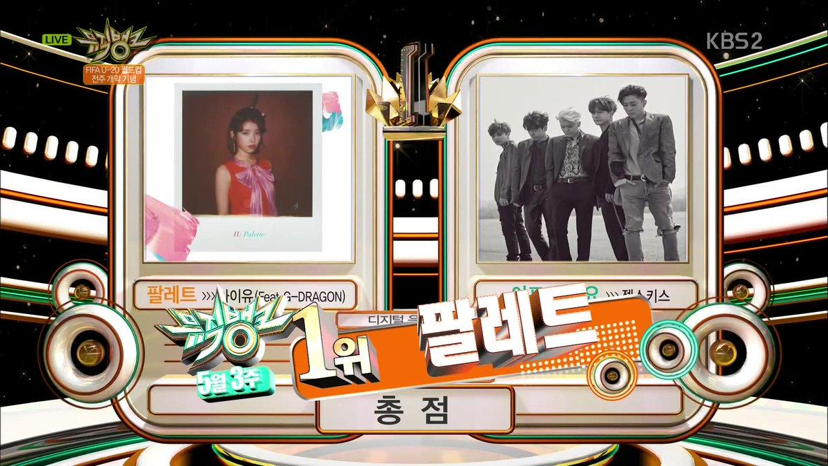 """IU consigue su décima victoria para """"Palette"""" en """"Music Bank"""", actuaciones de VIXX, TWICE, Roy Kim, EXO-CBX y más"""