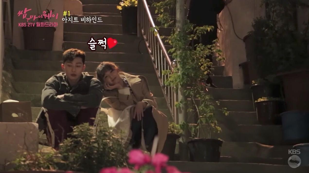 """Park Seo Joon y Kim Ji Won se divierten en un vídeo tras las cámaras de """"Fight My Way"""""""