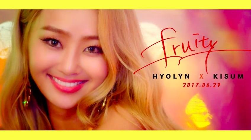 """Hyorin es juguetona y alegre en canción de colaboración """"Fruity"""" con Kisum"""