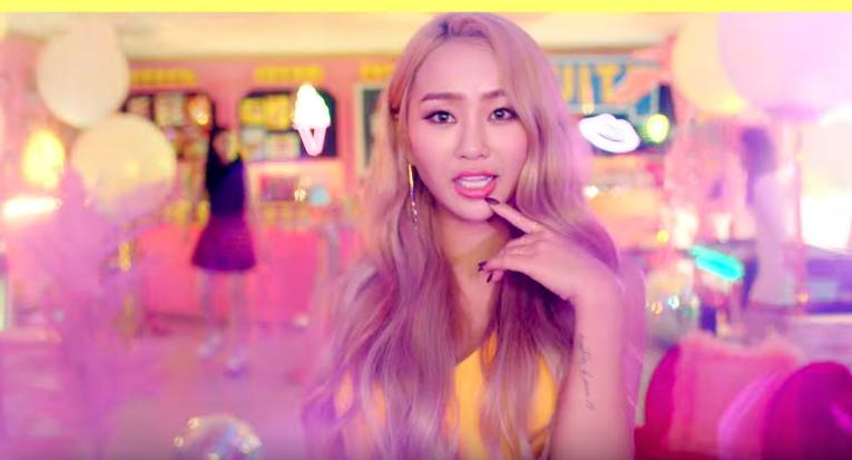"""Hyorin se une a Kisum para publicar un alegre MV para """"Fruity"""""""