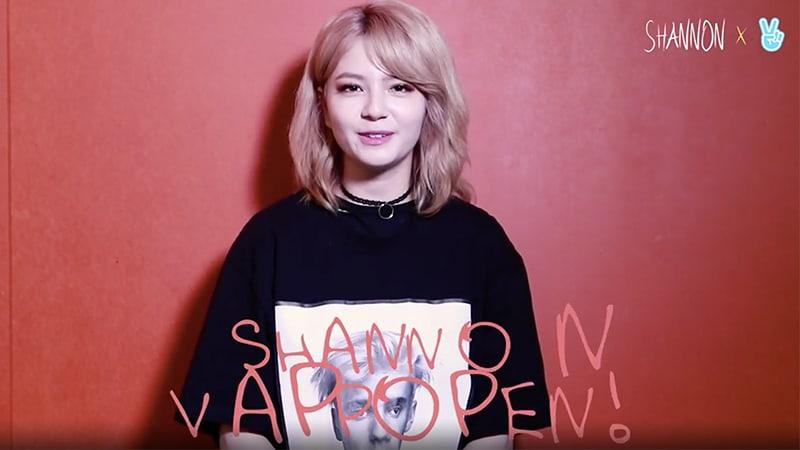 Shannon crea canal de V Live siguiendo su reciente comeback