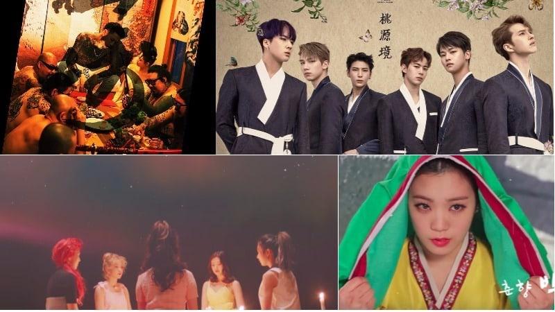 6 vívidos vídeos musicales de K-Pop que incorporan elementos asiáticos culturales + Folclore