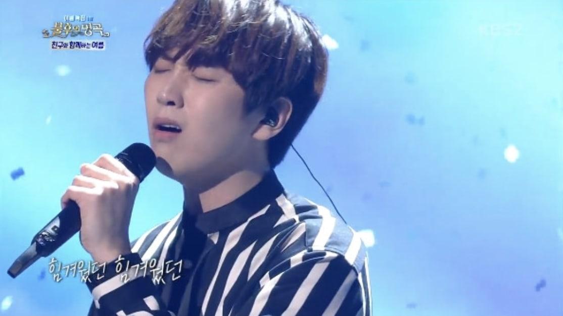 """Sandeul de B1A4 canta emotivo dueto con Ahn Se Ha en """"Immortal Song"""""""
