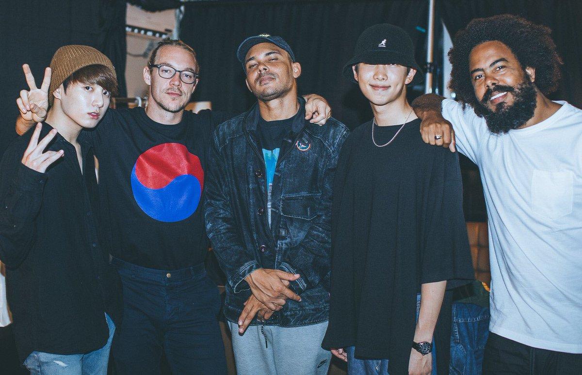 BTS, Diplo y MAJOR LAZER crean emoción con fotos de su reciente encuentro