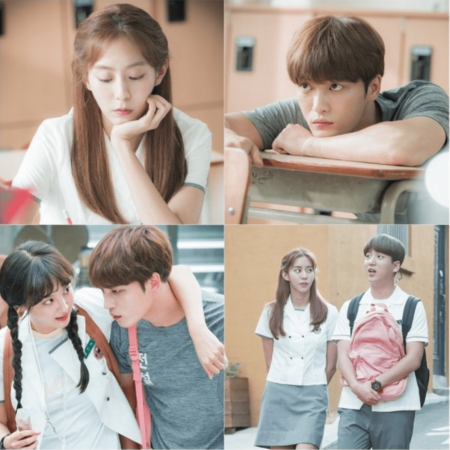 """""""Manhole"""" lanza imágenes teaser de UEE, Kim Jaejoong, Jung Hye Sung y Baro de B1A4 en uniformes de escuela secundaria"""