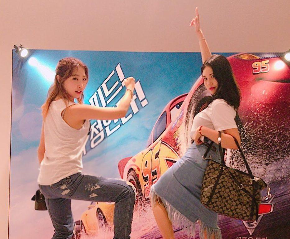 Gong Minzy y Jeon Somi son metas de amistad en divertidas fotos y vídeos de su encuentro