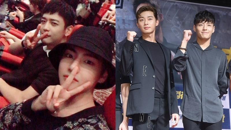 V de BTS y Minho de SHINee muestran apoyo por Park Seo Joon y Kang Ha Neul en proyección de película