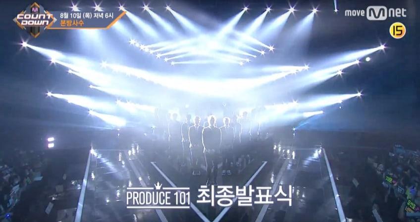 "Mnet libera un teaser de la épica reunión de ""Produce 101"" en próximo ""M!Countdown"""