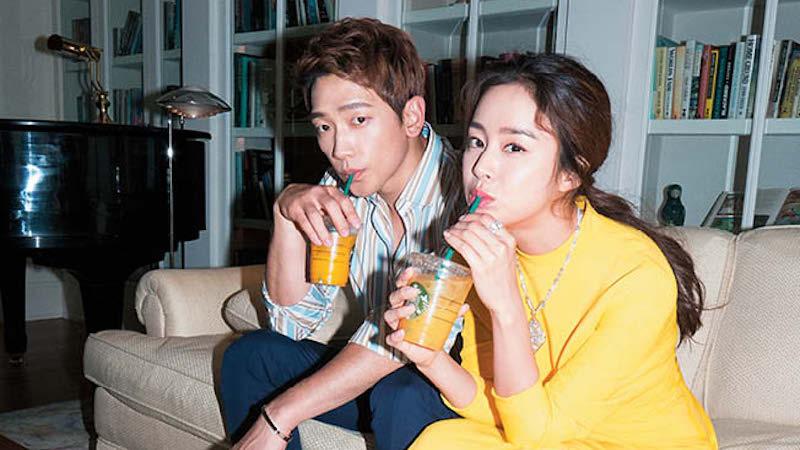 Kim Tae Hee muestra apoyo a su marido Rain enviando un camión de café al set de su película