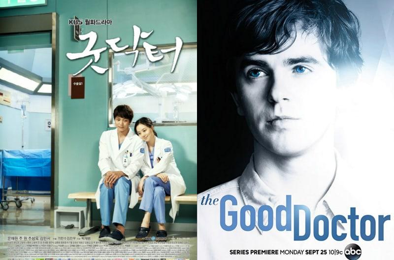 """Poster de la versión coreana y la americana de """"The Good Doctor"""". Fuente: Soompi."""