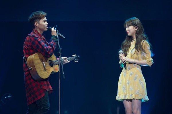 Suzy hace una aparición por sorpresa en el concierto de Park Won