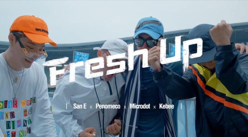 """San E, Penomeco, Microdot y Kebee botan fuego en MV para """"Fresh Up"""