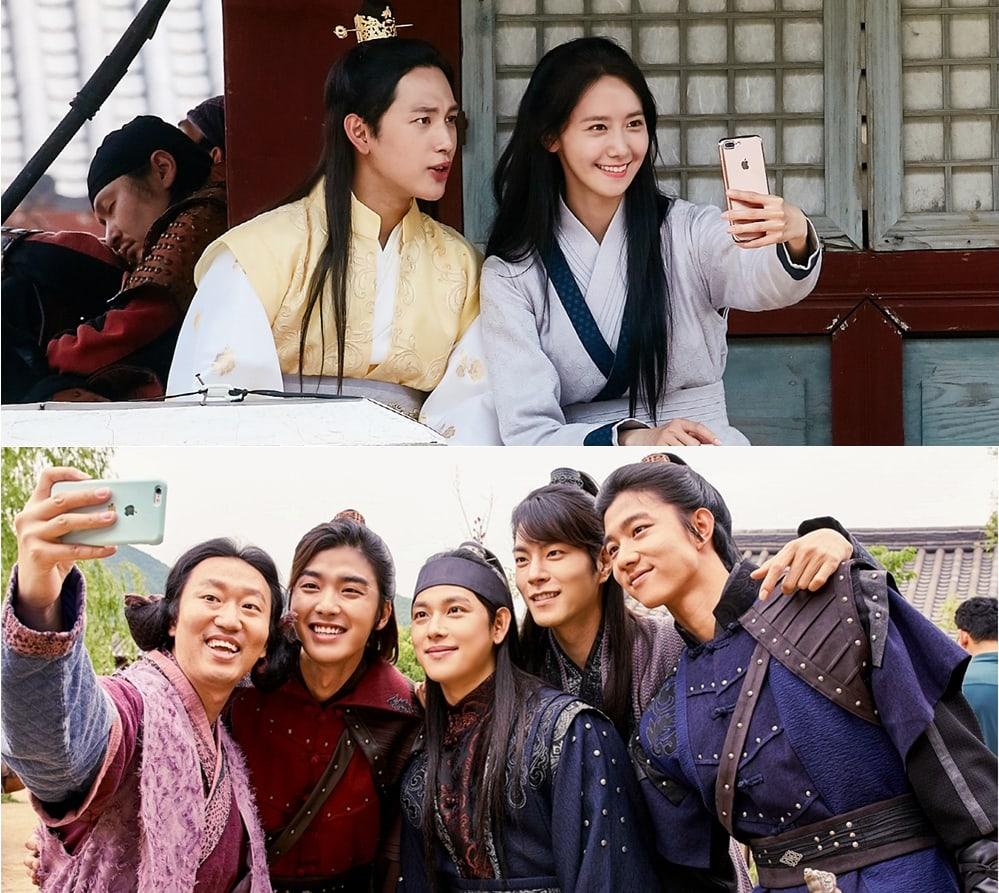 "El elenco de ""The King Loves"" se asegura de capturar cada momento dulce en el set"