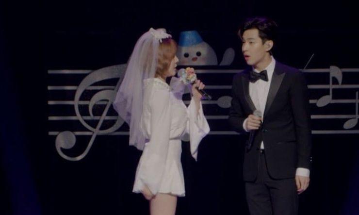 Sunny y Henry vestidos como una pareja de novios en teaser para pista de SM STATION