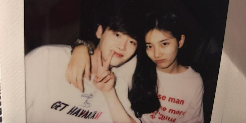 "Suzy comparte una dulce foto con su compañero de ""While You Were Sleeping"", Lee Jong Suk"