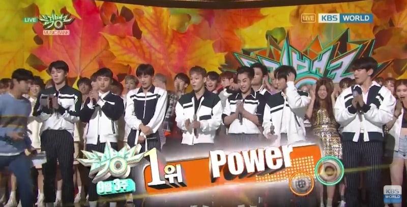"""EXO consigue tercera victoria para """"Power"""" en """"Music Bank"""", actuaciones de GFRIEND, Lee Gikwang, B.A.P y más"""