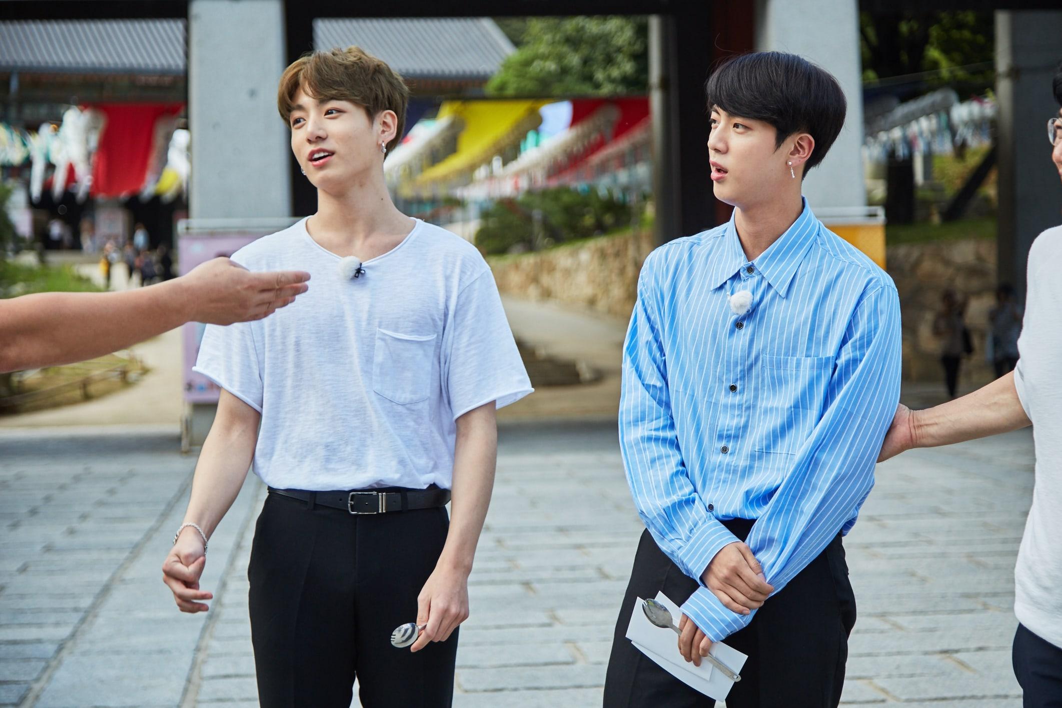 """Jungkook y Jin de BTS sienten el amor en """"Let's Eat Dinner Together"""""""