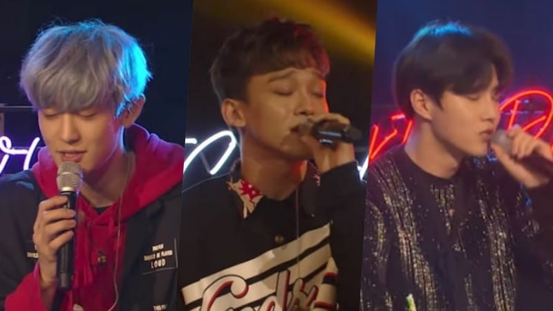 Chanyeol, Chen y Suho de EXO versionan sus canciones favoritas