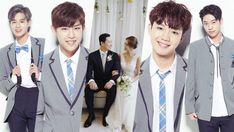 Lee Dae Hwi y Park Woo Jin de Wanna One se reúnen con MXM para felicitar a Rhymer en su boda