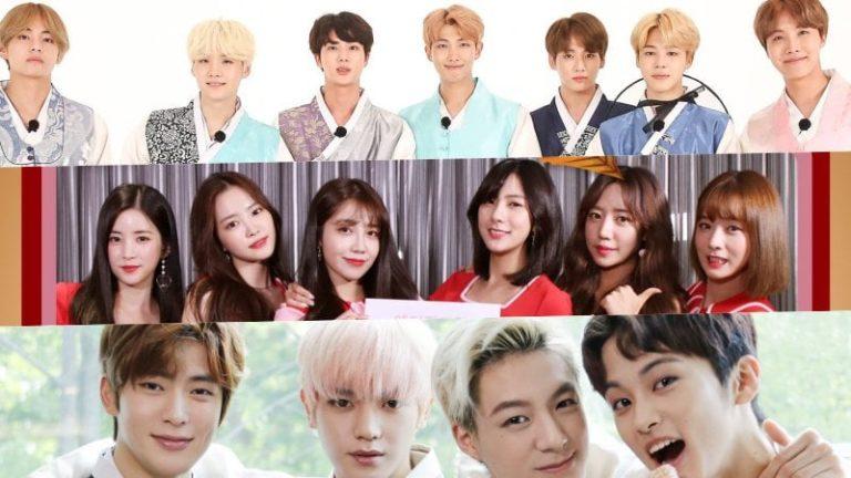 Ídolos de K-Pop comparten sus saludos por Chuseok