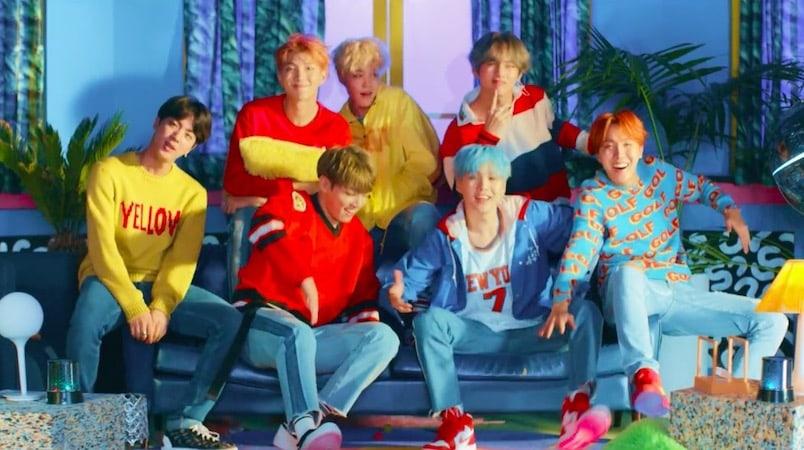 """""""DNA"""" de BTS rompe récord al ser el video de un grupo de K-Pop más rápido en llegar a los 100 millones de visitas"""