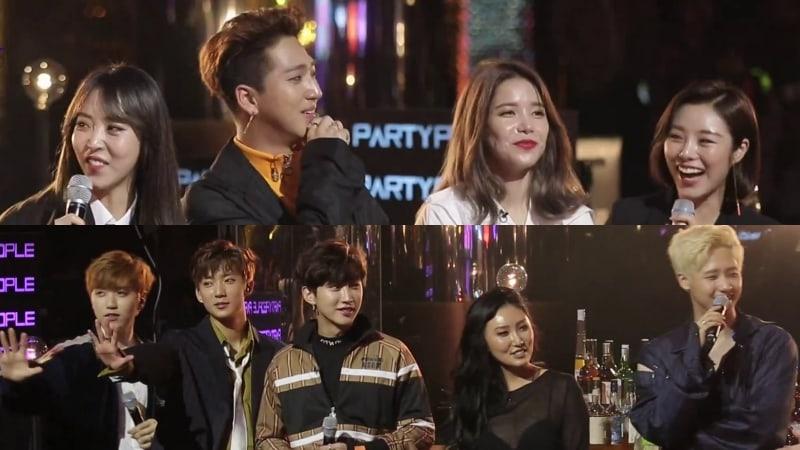 """La primera temporada de """"JYP's Party People"""" terminará con el episodio de MAMAMOO y B1A4"""