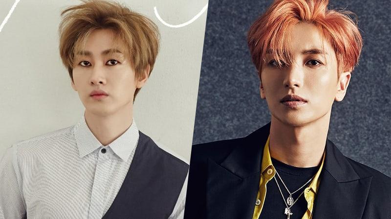 Eunhyuk de Super Junior reacciona de forma divertida ante la equivocación de un reportero con el nombre de Leeteuk