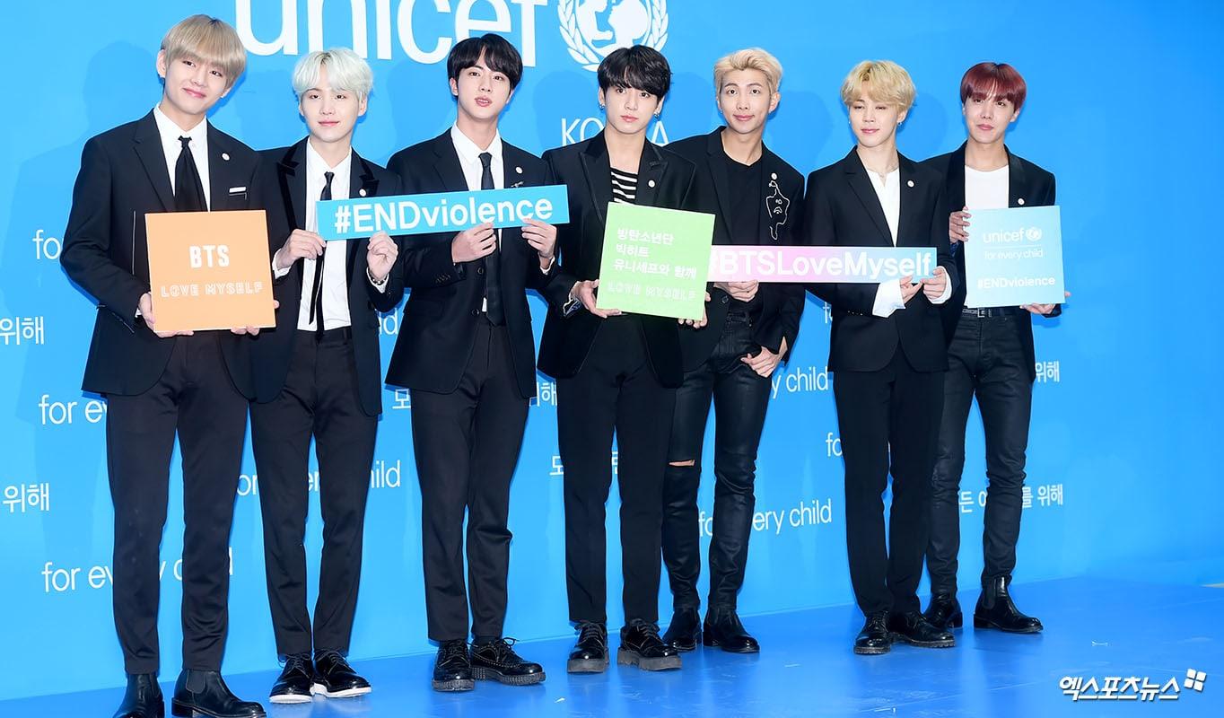 BTS y UNICEF lanzan la campaña global LOVE MYSELF