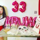 Sandara Park celebra su cumpleaños con amigos cercanos
